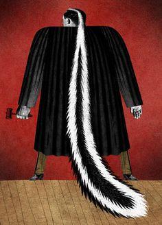 DAVID PLUNKERT ILLUSTRATION: HERE TO JUDGE