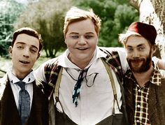 Buster Keaton, Roscoe Conklin Arbuckle (Fatty) and Al St.John