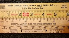"Here's some sample rulers from Lufkin. They were not as popular as Stanley  but still made quality rulers. These are 6"" samples rulers. #oldtools #ruler #woodruler #antquetools #rulecollector #rule # Lufkin #cooltooltuesday #vintagetools by jamtiques"