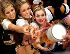 In Germany, Oktoberfest beer is brewed with 0.6-1.1% more alcohol and sugar than the average German beer. theatlantic.com