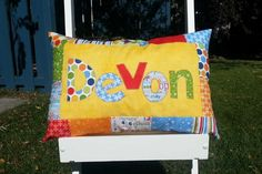 Custom Name Pillow – Limited Edition – Made to Order – Autism Awareness – Pieces of Hope