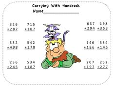 If your students are confused about carrying and borrowing, this unique way to teach these concepts is just what you need. This dragon themed unit explains how to use pinto beans and Zip Lock bags to show your students, in concrete terms, just what is happening when they carry and borrow. And what about that dreaded process of borrowing across zeroes? This method will make it a snap. $