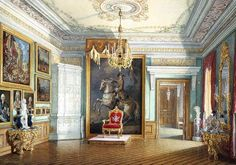 Category:Imperial throne of Russia in Gatchina museum-preserve Beautiful Architecture, Art And Architecture, Empire Time, Empire Design, Art Watercolor, Winter Palace, Hermitage Museum, Throne Room, Interior Rendering