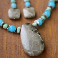 Petoskey Stone Necklaces and Earrings                                                                                                                                                                                 More