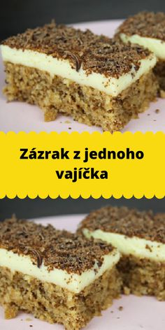 Czech Recipes, Ethnic Recipes, Low Cholesterol Diet, Yummy Treats, Tiramisu, Food And Drink, Tasty, Meals, Baking