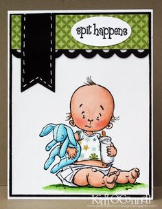 """Paper Perfect Designs by Kim O'Connell: """"Spit Happens"""" by Mo Manning for Stamping Bella"""