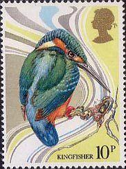 British Birds 10p Stamp (1980) Common Kingfisher