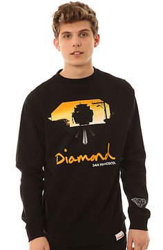 The Cable Car Crewneck Sweatshirt in Black by Diamond Supply Co.