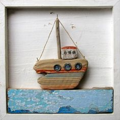 https://flic.kr/p/9JDesX | Driftwood Ship | found wood, painted