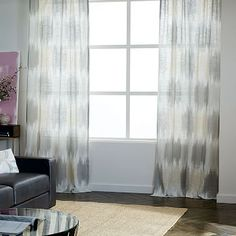 Linen Cotton Ikat Blocks Curtain #westelm