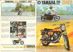 1972 Yamaha DS7 250 Street Motorcycle Brochure