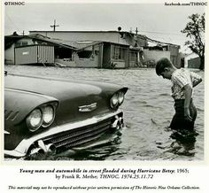 On this day in 1965, Hurricane Betsy came ashore at Grand Isle LA as a Category 3 storm.  With wind gusts up to 145 mph, it wiped out communities like Plaquemine and  St Bernard parishes. It was the first storm to cause over one billion dollars in damage and was the most destructive storm to hit in Louisiana's history to that point killing 75 people.