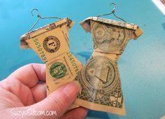 Cool Graduation Gift Idea- Folded Money Wardrobe!
