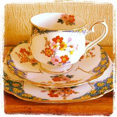 Royal Albert Florette Tea cup and saucer trio