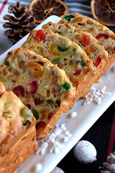 A common Christmastime tradition is fruitcake, and there's so many varieties to choose from. My version is free of alcohol and loaded with both candied and dried fruit, as well as walnuts. Christmas Apricot and Walnut Fruitcake just might be your… Holiday Baking, Christmas Baking, Baked Pork, Christmas Desserts, Christmas Fruitcake, Christmas Cupcakes, Savoury Cake, Food Cakes, Holiday Recipes