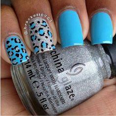 Blue & silver cheetah