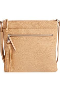 Halogen® Tasseled Leather Crossbody Bag available at #Nordstrom