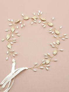Faux Pearl & Leaf Detail Hair Accessory | SHEIN South Africa Other Accessories, Hair Accessories, Pearl Headband, Bandeau, Hair Band, Free Gifts, Pearl Necklace, Leaves, Detail