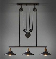 Cheap light brown black hair, Buy Quality light watts directly from China light civic Suppliers: Vintage Pulley Pendant Chandelier without bulbs