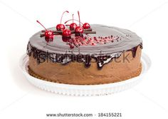 ?hocolate cake with chocolate glaze on white background  by TorriPhoto, via Shutterstock