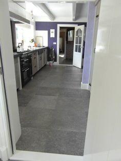Vloertegels belgisch hardsteen look kronos blautech grijs 80x80 cm tegels bij onze klanten - Imitatie cement tegels ...