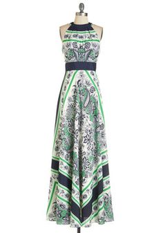 Garden Terrace Dress. Tea on the terrace never looked so good - gaze over the neat hedges and rose bushes, bedecked in this beautiful maxi dress! #multi #modcloth