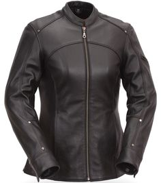 First Manufacturing Co. Women's Shape Accentuating Longer 3/4 Leather Jacket | 351-031