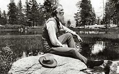 A friend and influential character in Theodore Roosevelt's campaign to preserve the American landscape. John Muir.