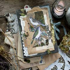 Junk Journal, Bullet Journal, Cool Journals, Art Journals, Brain Art, Woodland Art, Mixed Media Journal, Nature Journal, Botanical Drawings
