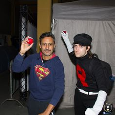 Recruit Mau throwing his pokeball with Captain Giorgio Vanni! #TeamRocket #Pokemon #GottaCatchEmAll #GottaStealEmAll #Cosplay #ItalianCosplay #CuneoComics #CuneoComicsAndGames #CuneoCG2017 #GiorgioVanni