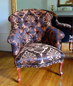 gold damask french chair by couch gb | notonthehighstreet.com