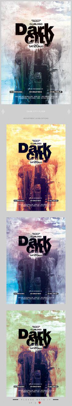 Dark City Flyer Template PSD. Download here: https://graphicriver.net/item/dark-city-flyer/17235693?ref=ksioks