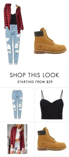 """:)"" by peaceellie03 on Polyvore featuring Topshop, Alexander Wang and Timberland"