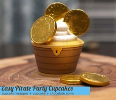 Easy Pirate Party Cupcakes - and lots of pirate party ideas