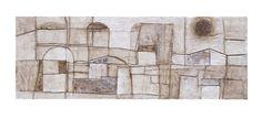 Titolo: Città invisibili 23. Tecnica: cemento bianco, bitume e terre naturali su tavola. cm 50 x 18. Anno: 2011.