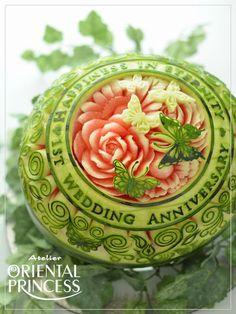 watermelon  for our 1st wedding annivrsary☆彡