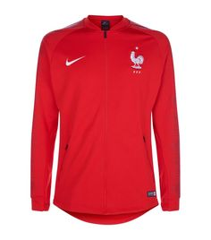 NIKE FFF Anthem Jacket. #nike #cloth # Nike Men, Adidas Jacket, Sportswear, Sweatpants, Slim, Red, How To Wear, Jackets, Clothes