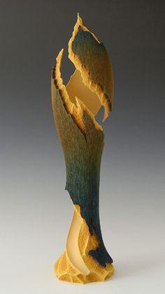 Wood Art by John Paul Goodyear Wooden Words, Wooden Art, Wood Sculpture, Metal Sculptures, Abstract Sculpture, Bronze Sculpture, Trunk Furniture, Abstract Shapes, Organic Shapes