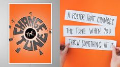 Change the tune by Michael Robinson. We have a shared music machine in our studio. Anyone can put anything on they want at any time, no rules. It's a democratic system that seems to work 99% of the time. But occasionally the system fails and that's what inspired me to build this poster. Built as an R project at http://www.agencyrepublic.com