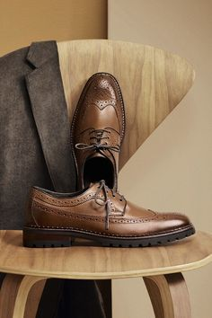 Classic Upgrade: Lugged soles keep your style grounded. Mens Fashion Shoes, Men S Shoes, Gentleman Shoes, Formal Shoes For Men, Shoes Photo, Mocca, Beautiful Shoes, Dandy, Designer Shoes