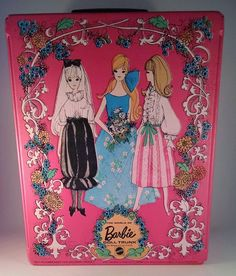 Vintage Mod Barbie Pink World Of Barbie Doll Trunk Circa 1969 VTG Made In USA