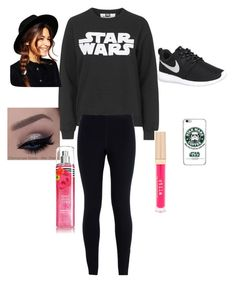 """Star Wars style"" by madyf1010 ❤ liked on Polyvore featuring beauty, Topshop, NIKE, ASOS and Stila"
