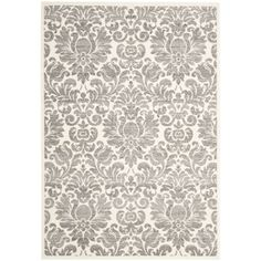 @Overstock - A sophisticated contemporary design and dense, thick pile highlight this power-loomed rug. This rug combines great styling and comfort with a durable powerloomed construction making this ultra low shedding rug easy to maintain.http://www.overstock.com/Home-Garden/Porcello-Damask-Ivory-Grey-Rug-53-x-77/7179553/product.html?CID=214117 $204.99