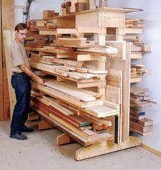 More wood storage