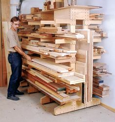 More wood storage