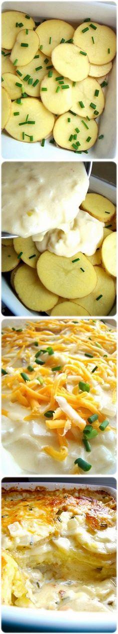 Cheesy Scalloped Potatoes Side Dish Recipe
