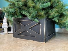 What a great way to update that ugly tree stand, No more loose cords, cats climbing your tree, dogs pulling your tree skirt!  Our Christmas tree box  has NO hardware or screws to lose;),  No tools are  needed!  Our Velcro system makes set up and tear down a snap. Available in 3 or 4 sides. No need to lift that heavy tree , just set your tree up, snap your Tree Box together,and slide it in place . Folds up flat , only 5 inches highFree shipping!Add our CHRISTMAS TREE SIGN for a personalized optio Christmas Tree Box Stand, Wood Christmas Tree, Plaid Christmas, Christmas Decorations, Christmas Ideas, Tree Collar Christmas, Southern Christmas, Holiday Decor, Christmas Signs