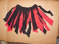 NWOT-2-color-Red-Black-CARWASH-TAP-JAZZ-DANCE-SPANDEX-SKIRT-CHILD-ADULT-SIZES