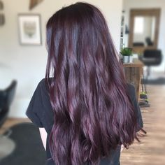 """90 Likes, 6 Comments - Ashley Ballou✂️ (@hairbyashleyballou) on Instagram: """"Plum love  I used mostly @redken 5Vr with a little bit of 3Vr & V with 10 vol from root to end.…"""""""