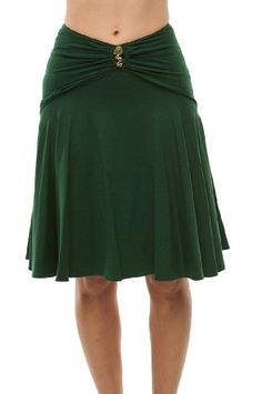 Roberto Cavalli - Green Skirt with Brooch Roberto Cavalli. $226.10